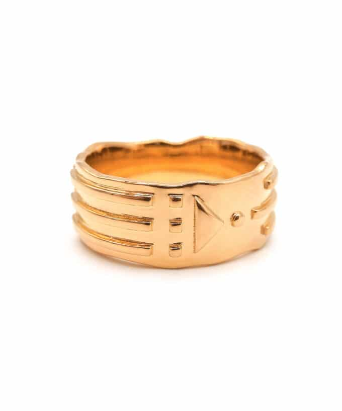 Atlantis Ring - Solid - Rose Gold Plated Brass