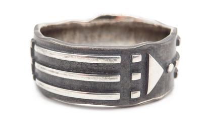 Blackened Silver Ring