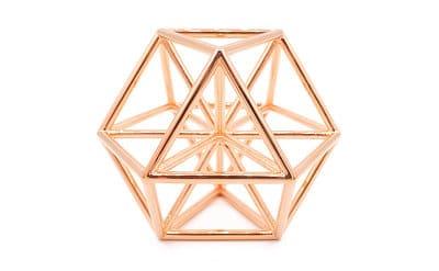 Copper polished pendant