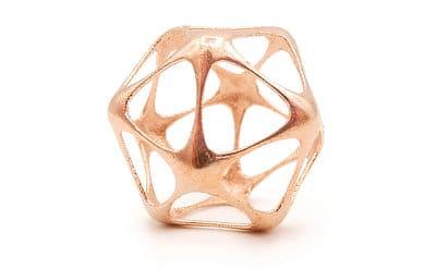 Copper raw pendant