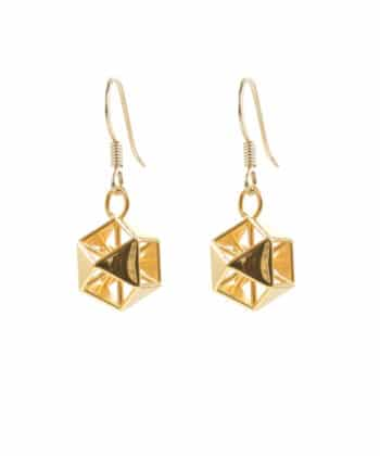 Vector Equilibrium Earrings - Gold Plated Brass